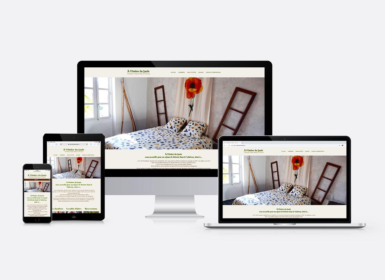 site web à L'Ombre du Saule