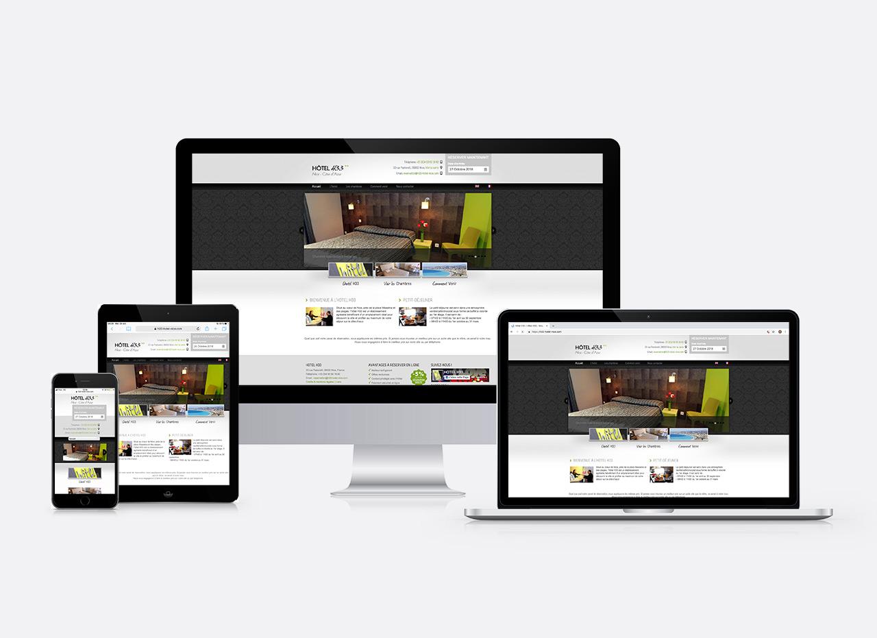site web Hôtel H33